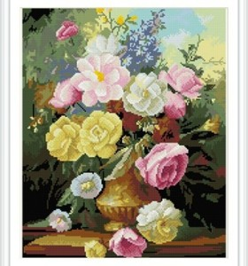 paint boy brand flower canvas art diamond painting for wall art GZ318