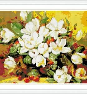 GZ285 flower diamond cross stitch kits for living room decoration