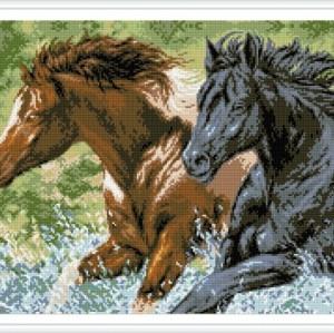 paintboy hot pferd foto handarbeit diamant malerei mit holzrahmen gz343
