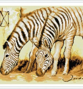 paint boy zebra diamond home decor painting GZ347