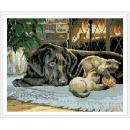 hund bild kinder diamant leinwand gemälde gz345