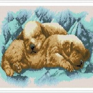 paintboy little puppy diy diamond painting by numbers for wall art GZ341