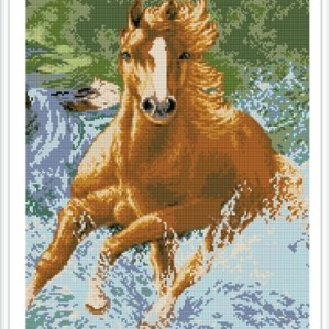 running horse diamond painting GZ344