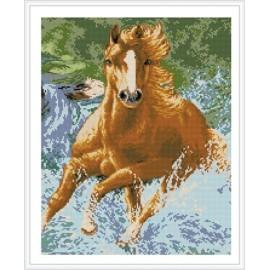 Running horse pintura diamante GZ344