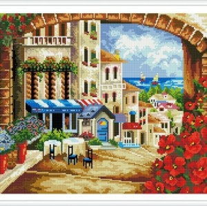 asstract landscape diy diamond mosaic painting on canvas GZ338