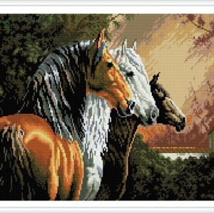 paint boy horse photo diy diamond painting GZ349