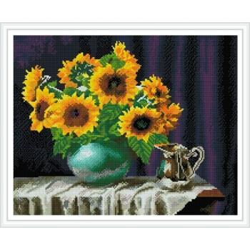 Gz444 Liebe foto gerahmt sonnenblumen wand kunst 2.5mm runde 5d diy stickerei diamant malerei setzt für dekorationen