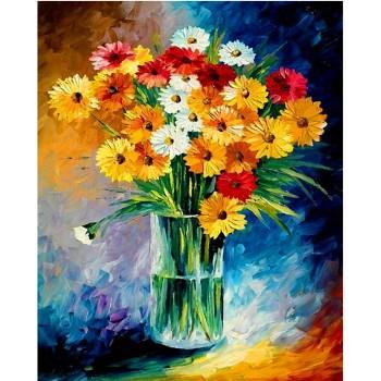 Flor de la margarita pintura diamante bordado diy de la decoración del hogar GZ370