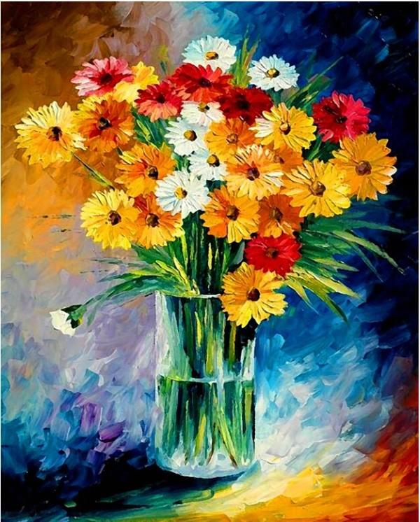flower daisy diy embroidery diamond painting for home decor GZ370