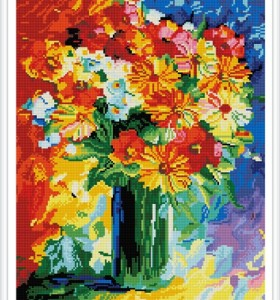 GZ385 paint boy flower diamond embroidery for handcrafts