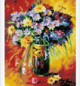 GZ386 paint boy flower diamond mosaic painting for home decor