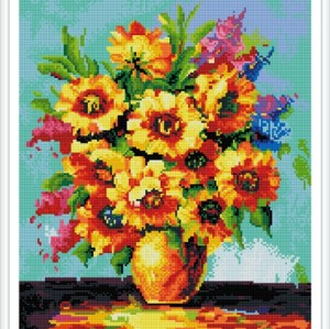 GZ388 handcrafts modern flower art diamond paintings for home decor