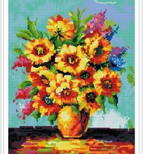 GZ388 handcrafts modern flower art diamond paintings for home decor