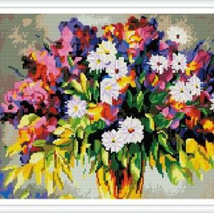 gz387 handwerk diy blume diamant mosaikmalerei für Wohnzimmer dekor