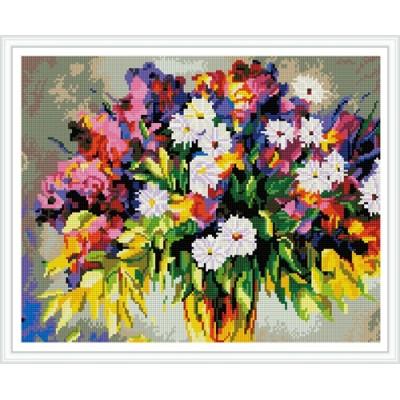 GZ387 handcrafts diy flower diamond mosaic painting for living room decor