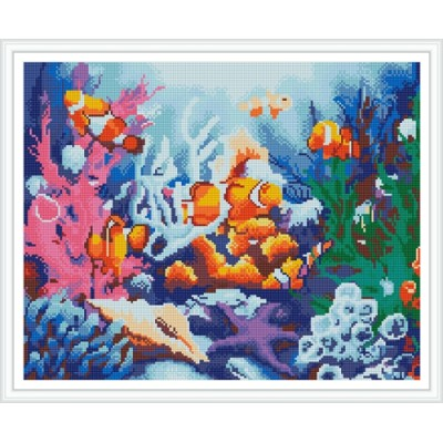 GZ391 seascape fish diy crystal diamond painting for home decor