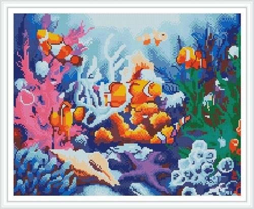GZ391 seascape fish diy crystal diamond painting for home decor