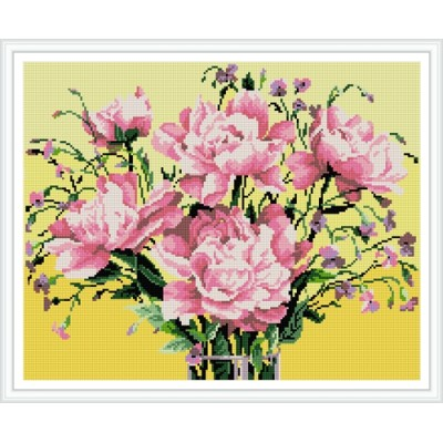 GZ397 5d flower diamond painting with wooden frame
