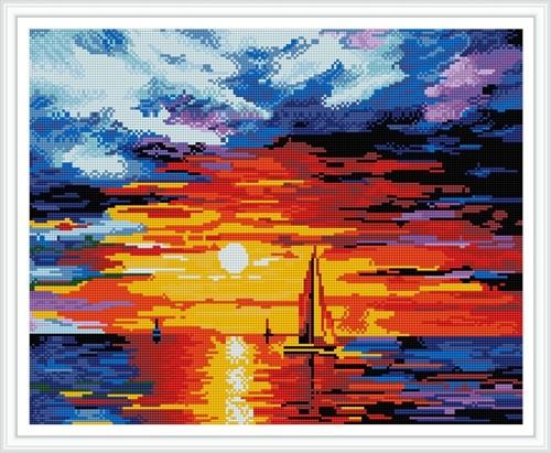 GZ393 sunset diy crystal diamond painting for wholesale