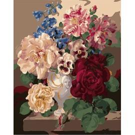 malen nach zahlen für den großhandel rote blume Bild kunst malerei gesetzt gx7055 kunst lieferanten