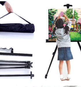 Good quality ZP001 Stainless Steel easel adjustable all size applicable tripod