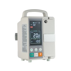 Infusion pump with thermostat warms IV tubing