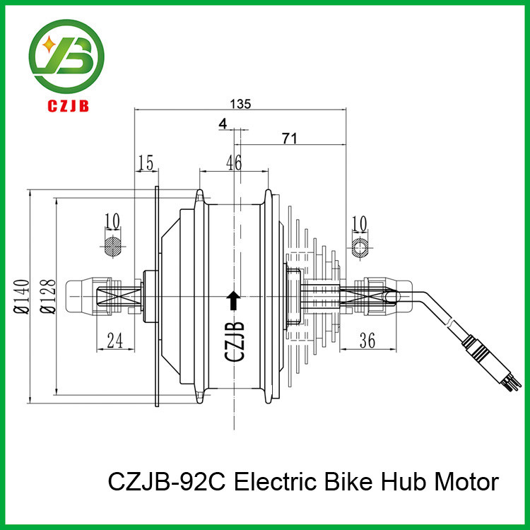 brushless e-bike hub motor