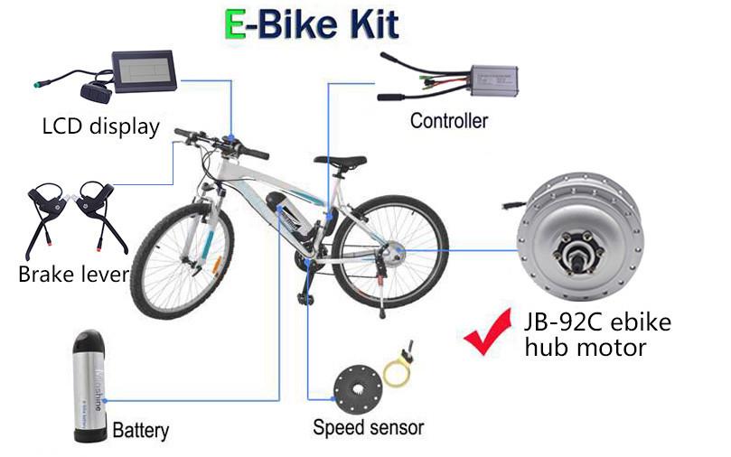 ebike 250w 350w engine hub motor