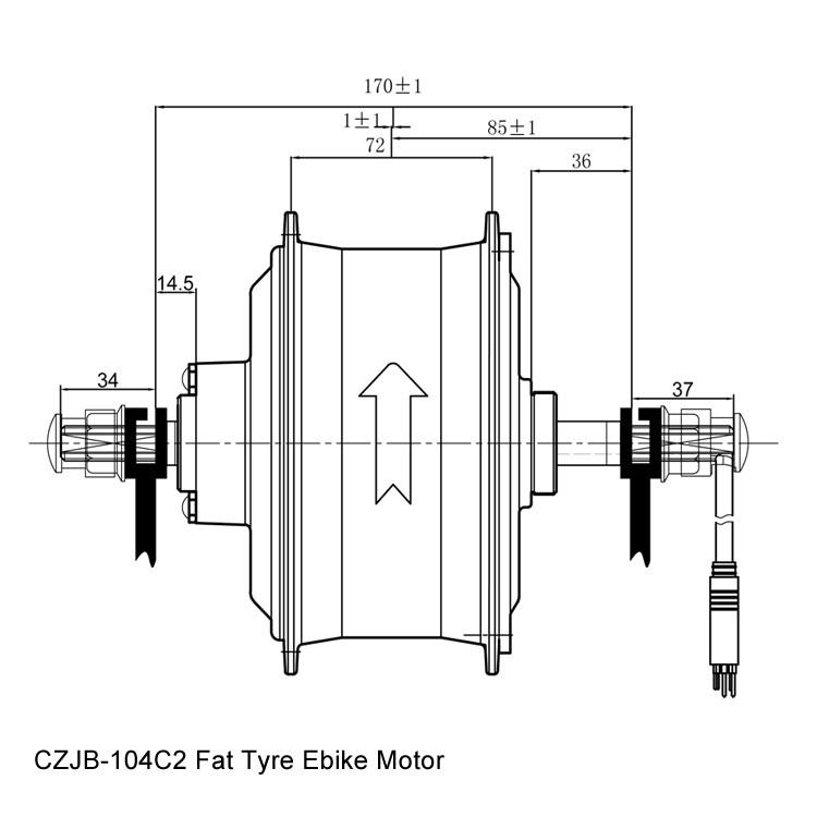750w electric bicycle brushless hub motor