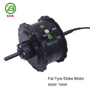 CZJB-104C2 48v 500w Fat Brushless Electric Bicycle bldc Spoke Hub Motor