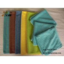 Microfiber weft knitted chess towel
