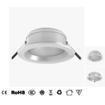 LED downlight 8W/15W/20W with high transmittance frosted PMMA