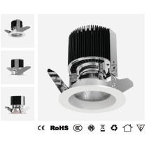 LED ceiling lamp with flexible optional beam angle