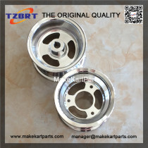 Go-kart ATV rims and wheel assembly of 6 inch bore with 1 inch hub
