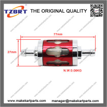 Fuel Filter Red Mini Moto for engine 2 or 4 stroke