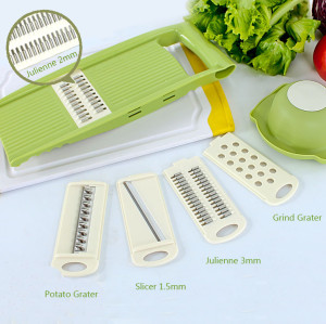 Lekoch Kitchen Mandoline Slicer with four usage