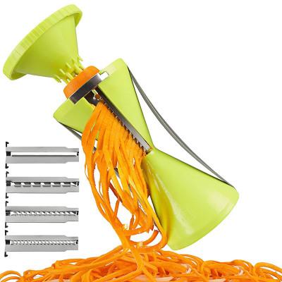 Lekoch 4in1 Spiral Slicer Vegetable Cutter Carrot Noodle Julienne Grater Salad Maker