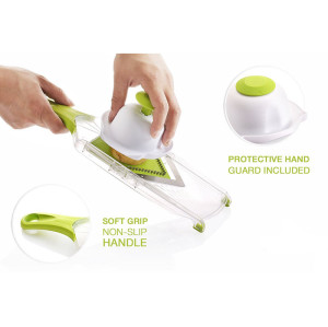 Lekoch Manual Mandoline slicer with hand protect holder