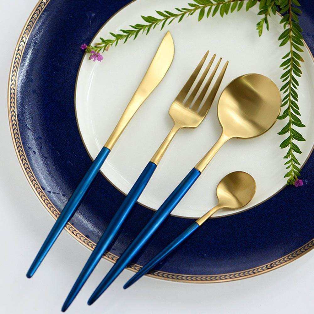 Lekoch Stainless Steel Flatware Including Fork Spoons Knife Silverware Cutlery Set For 4 Piece