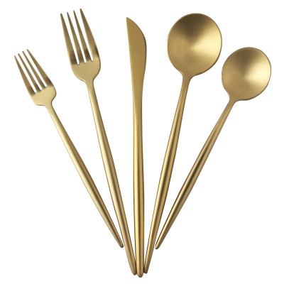 LEKOCH 5 PCS - Portugal Classical GOLD Flatware