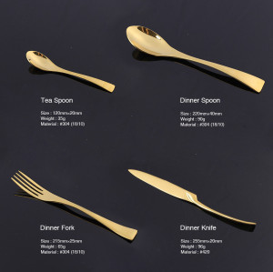 LEKOCH-4PCS Vogue Gold Flatware