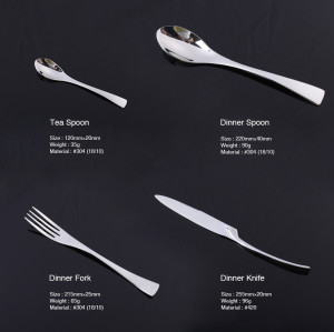 LEKOCH-4PCS Vogue Series Silvery Flatware