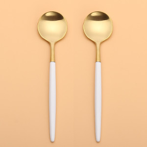 LEKOCH    Gold With White Teaspoon