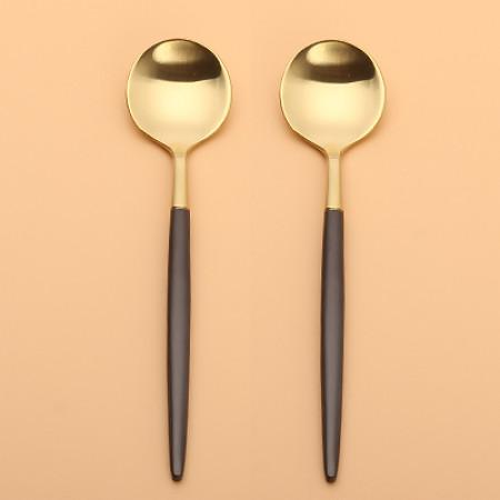 LEKOCH Gold With Brown Teaspoon