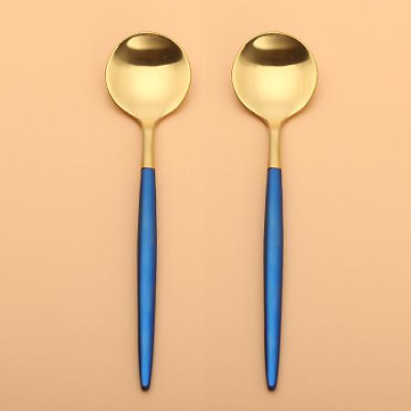 LEKOCH Gold With Blue Teaspoon