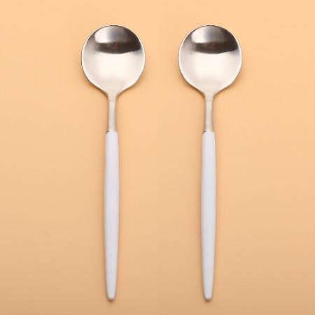 LEKOCH Silver With WhiteTeaspoon
