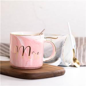 Lekoch Cylindrical Pink Ceramic Mug With Handgrip