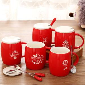 Christmas Mug Smteapot Creative Red 3D Animal Ceramic Mug 400ml Cartoon Couple Coffee Milk Tea Cup New Favors Water Cups