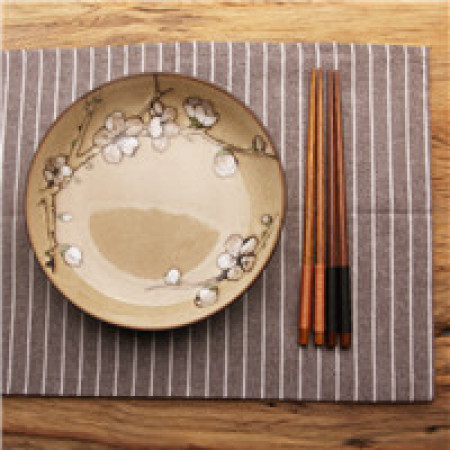 Lekoch Chopsticks 5 Pairs Handmade Japanese Natural Chestnut Wood Chopsticks Set Brown and Black Christmas Gift DROP SHIPPING