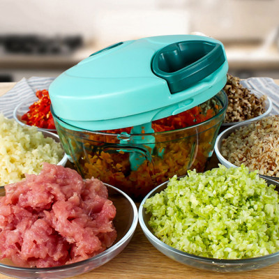 Lekoch Multifunction Vegetable Chopper Cutter Manual Meat Grinder with Container